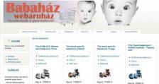 Babaház Webáruház honlapja
