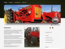 TFT Gépkereskedés honlapja